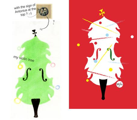 d6296f61cb Avec une figuration recto verso (cover and back-cover) du Stradi-Christmas  tree. Les titres (au verso) s inscriraient en mouvements selon le quatuor  de ...